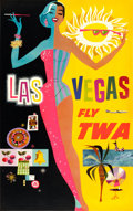 "Movie Posters:Miscellaneous, TWA Las Vegas (c.1960s). David Klein Full-Bleed Poster (25.5"" X40"").. ..."