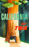 "Movie Posters:Miscellaneous, TWA California Travel Poster (c. 1950s). David Klein Full-BleedPoster (25"" X 40.25"").. ..."