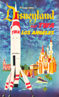 "Movie Posters:Miscellaneous, TWA Disneyland Travel Poster (c.1955). David Klein Full-BleedPoster (25"" X 40.5"").. ..."