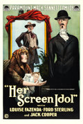 "Movie Posters:Comedy, Her Screen Idol (Paramount, 1918). One Sheet (27"" X 41"").. ..."