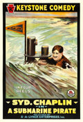 "Movie Posters:Comedy, A Submarine Pirate (Triangle-Keystone/S.A. Lynch, 1915). One Sheet(27.5"" X 41"").. ..."