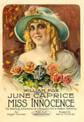 "Movie Posters:Drama, Miss Innocence (Fox, 1918). One Sheet (27"" X 41"") Portrait Style....."