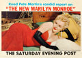 """Movie Posters:Miscellaneous, Marilyn Monroe Saturday Evening Post Magazine (Curtis Publishing,1956). Newstand Poster (28"""" X 39.75"""").. ..."""
