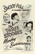 "Movie Posters:Comedy, The Three Stooges in Monkey Businessmen (Columbia, 1946). One Sheet (27"" X 41""). Comedy.. ..."