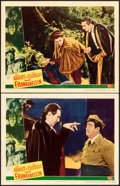 """Movie Posters:Horror, Abbott and Costello Meet Frankenstein (Universal International,1948). Lobby Cards (2) (11"""" X 14"""").. ... (Total: 2 Items)"""