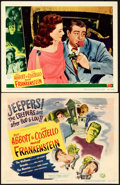 """Movie Posters:Horror, Abbott and Costello Meet Frankenstein (Universal International,1948). Title Lobby Card & Lobby Card (11"""" X 14"""").. ... (Total:2 Items)"""
