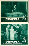 "Movie Posters:Horror, Dracula (Universal, R-1947). Lobby Cards (2) (11"" X 14"").. ...(Total: 2 Items)"