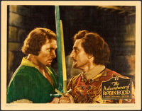 """The Adventures of Robin Hood (Warner Brothers, 1938). Linen Finish Lobby Card (11"""" X 14"""")"""