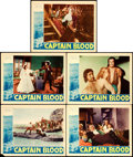 "Movie Posters:Adventure, Captain Blood (Warner Brothers, 1935). Lobby Cards (5) (11"" X14"").. ... (Total: 5 Items)"