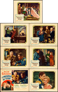 "The Prisoner of Zenda (United Artists, 1937). Title Lobby Card & Lobby Cards (6) (11"" X 14""). ... (Tot..."