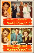 """Movie Posters:Hitchcock, Notorious (RKO, 1946). Lobby Cards (2) (11"""" X 14"""").. ... (Total: 2Items)"""
