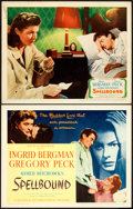 "Movie Posters:Hitchcock, Spellbound (United Artists, 1945). Title Lobby Card & LobbyCard (11"" X 14"").. ... (Total: 2 Items)"