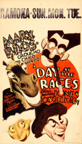 "Movie Posters:Comedy, A Day at the Races (MGM, 1937). Midget Window Card (8"" X 14"") AlHirschfeld Artwork.. ..."