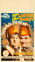 """Movie Posters:Comedy, Sons of the Desert (MGM, 1933). Midget Window Card (8"""" X 14"""").. ..."""