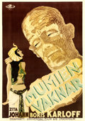 "Movie Posters:Horror, The Mummy (Universal, 1932). Swedish One Sheet (27.5"" X 39.5"")....."