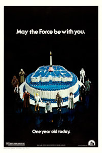 "Star Wars (20th Century Fox, 1978). One Sheet (27.5"" X 41"") Birthday Cake Style"