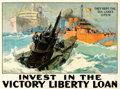 "Movie Posters:War, World War I Propaganda (1917-1919). Poster (29"" X 39"") ""Invest inthe Victory Liberty Loan, They Kept The Sea Lanes Open,"" L..."