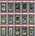 Baseball Cards:Singles (Pre-1930), 1916 M101-5 Blank Backs (Sporting News) PSA NM-MT 8 Collection (15Different). ...