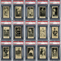 Baseball Cards:Lots, 1916 M101-5 Blank Backs (Sporting News) PSA NM-MT 8 Collection (15Different). ...
