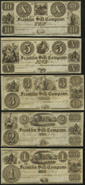 Obsoletes By State:Ohio, Franklin, OH- Franklin Silk Company $1; $2; $3; $5; $10 18__Remainders. ... (Total: 5 notes)