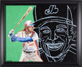 Baseball Collectibles:Others, 1982 Gary Carter Signed Original Painting by Bing Chan from TheGary Carter Collection....