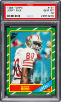 Football Cards:Singles (1970-Now), 1986 Topps Jerry Rice #161 PSA Gem Mint 10....