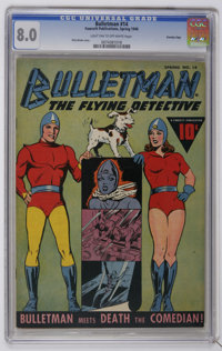 Bulletman #14 Crowley Copy pedigree (Fawcett, 1946) CGC VF 8.0 Light tan to off-white pages