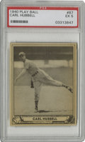 Baseball Cards:Singles (1940-1949), 1940 Play Ball Carl Hubbell #87 PSA EX 5. King Carl Hubbellcommands the attention of collectors with this wholly respectab...