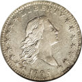 Early Half Dollars: , 1795/1795 50C 2 Leaves AU58 NGC. Ex: Eliasberg. O-112, R.4. Alightly toned Condition Census example of this well known var...