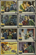 "Movie Posters:Adventure, The Three Musketeers (MGM, 1948). Lobby Card Set of 8 (11"" X 14"").Adventure. Starring Lana Turner, Gene Kelly, June Allyson...(Total: 8 Item)"