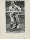 """Autographs:Photos, Rogers Hornsby Signed Photograph. """"The Rajah"""" was a tremendoushitter of the ball, and currently holds the record for highe..."""