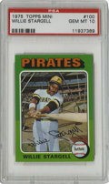 Baseball Cards:Singles (1970-Now), 1975 Topps Mini Willie Stargell #100 PSA Gem Mint 10. Acollector-favorite issue due to its attractive design as well asit...