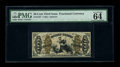 """Fractional Currency:Third Issue, Fr. 1359 50c Third Issue Justice PMG Choice Uncirculated 63 EPQ. An exceptional example of this very scarce number with """"1""""..."""