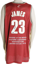 Basketball Collectibles:Others, LeBron James Signed UDA Jersey. Since his junior year at St.Vincent-St. Marys, LeBron James was touted as one of the NBA's...