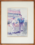 """Baseball Collectibles:Others, 1985 """"Tough Winners of Two Games"""" Print Signed by Vice-President George H.W. Bush to Gary Carter from The Gary Car..."""