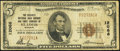 National Bank Notes:Missouri, Saint Louis, MO - $5 1929 Ty. 1 The Security NB Savings & TCCh. # 12066. ...
