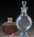 Art Glass:Lalique, R. Lalique Clear Glass and Enameled En Croisiere &Requete Perfumes for Worth. Both are in their ori... (Total:2 Items)