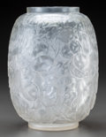 Art Glass:Lalique, R. Lalique Clear and Frosted Glass Monnaie du Pape Vase.Circa 1914. Molded R. LALIQUE. M p. 416, No. 897. H...