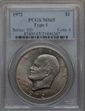 Eisenhower Dollars, 1972 $1 Type One MS65 PCGS. PCGS Population: (470/8). NGC Census: (431/2). ...