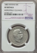 Coins of Hawaii , 1883 50C Hawaii Half Dollar -- Improperly Cleaned -- NGC Details.XF. NGC Census: (52/416). PCGS Population: (107/591). Mi...