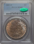 Morgan Dollars: , 1885-O $1 MS66 PCGS. CAC. PCGS Population: (2825/347). NGC Census: (4709/583). CDN: $190 Whsle. Bid for problem-free NGC/PC...