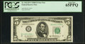 Small Size:Federal Reserve Notes, Fr. 1963-B* $5 1950B Federal Reserve Star Note. PCGS Gem New 65PPQ.. ...