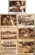 "Movie Posters:Drama, Cleopatra (Fox, 1917). Title Lobby Card & Lobby Cards (6) (11"" X 14"").. ... (Total: 7 Items)"