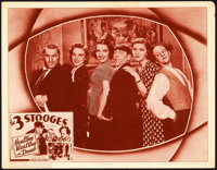 "The Three Stooges in Healthy, Wealthy and Dumb (Columbia, 1938). Lobby Card (11"" X 14"")"