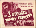 "Movie Posters:Comedy, The Three Stooges in Phony Express (Columbia, 1943). Title LobbyCard (11"" X 14"").. ..."