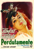 "Movie Posters:Romance, Humoresque (Warner Brothers, 1946). Italian Foglio (27"" X 34"")Luigi Martinati Artwork.. ..."