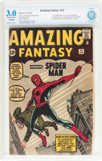 Amazing Fantasy #15 (Marvel, 1962) CBCS GD/VG 3.0 (Trimmed) Off-white to white pages