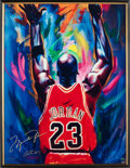 Basketball Collectibles:Photos, 2000's Michael Jordan Signed Oversized Beninati Giclee. ...