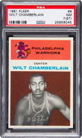 Basketball Cards:Singles (Pre-1970), 1961 Fleer Wilt Chamberlain #8 PSA NM 7 (ST)....