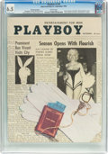 Magazines:Vintage, Playboy V2#9 Newsstand Edition (HMH Publishing, 1955) CGC FN+ 6.5 White pages....